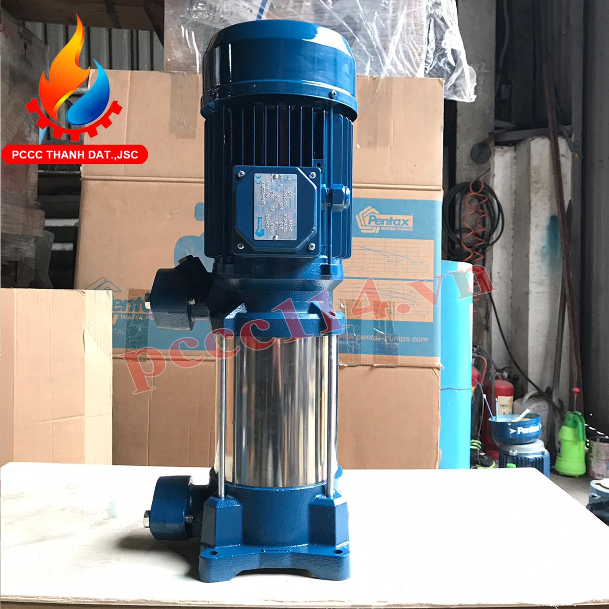 Máy bơm bù áp pccc Pentax U7V-400/8T 4HP