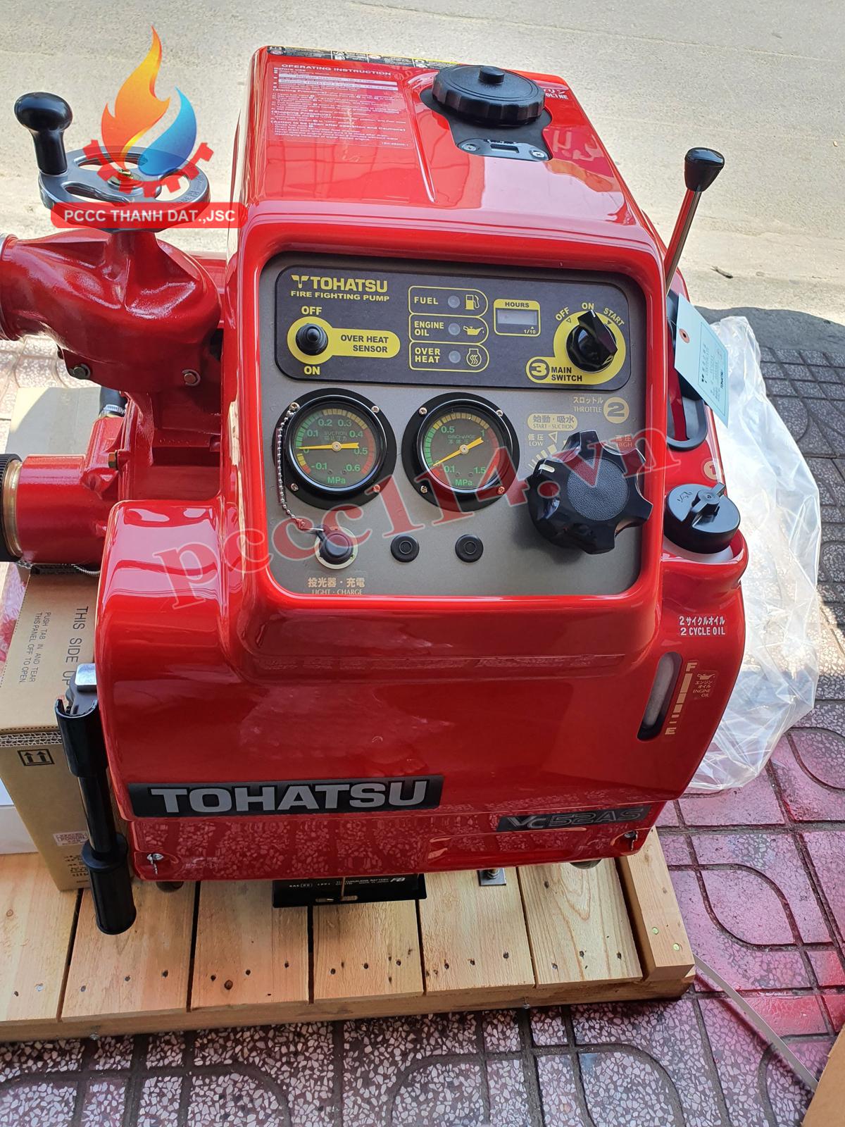 Hướng dẫn sử dụng máy bơm chữa cháy Tohatsu