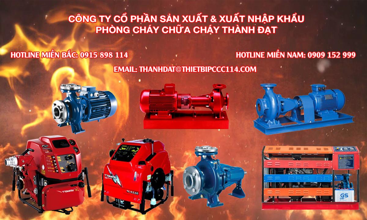 So sánh bơm chữa cháy diesel và bơm chữa cháy Tohatsu